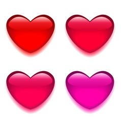 Glass red pink heart vector