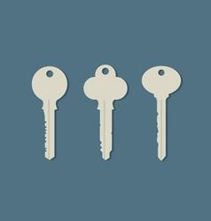 Set Of Keys vector image