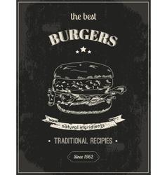 Hamburger poster vector image