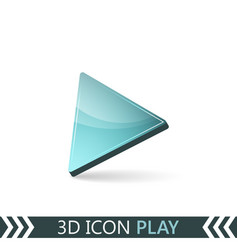 3d icon play vector
