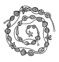 Stylized decoration zentangle vector