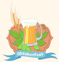 Vintage poster or greeting card for oktoberfest vector