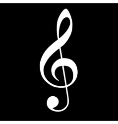 Violin key icon music vector