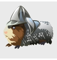 Rodent in knights armor cartoon animal series vector