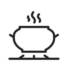 Cooking on stove vector