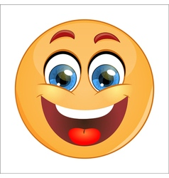 Smiling emoticon vector