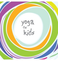 Yoga for kids - background with copy space vector