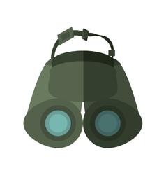 Binoculars explorer spyglass observation shadow vector