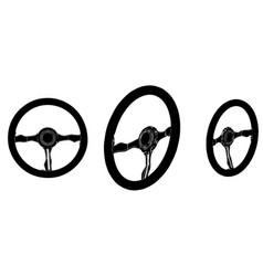 black steering wheel vector image