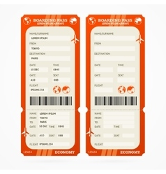 Boarding Pass Ticket Set vector image vector image