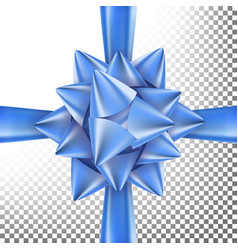 christmas gift bow bright ribbon design vector image