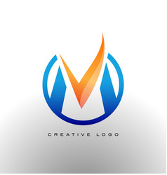 Corporate letter m logo vector