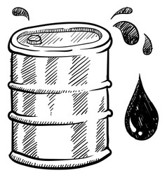 doodle oil barrel vector image vector image