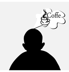 dreaming of coffee vector image