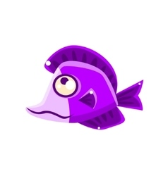 Dreamy violet fantastic aquarium tropical fish vector