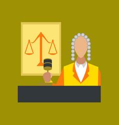 Flat icon on stylish background jurisdiction judge vector