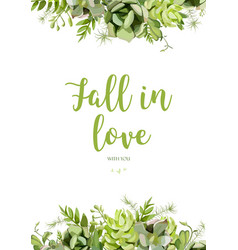 floral design vertical card design tender vector image vector image