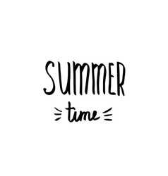 hello summer - hand drawn brush text handmade vector image