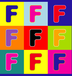 letter f sign design template element pop vector image