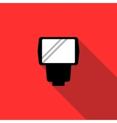 Lighting flash for camera icon flat style vector image vector image
