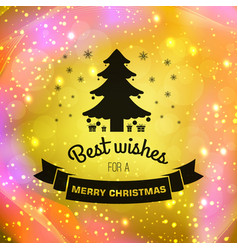merry christmas festive poster vector image