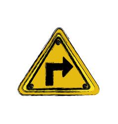 metal emblem notices warning vector image vector image