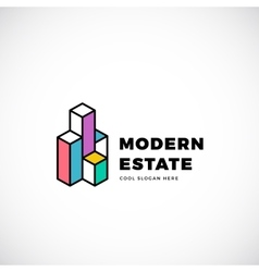 Modern Estate Abstract Logo Template vector image