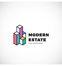 Modern estate abstract logo template vector