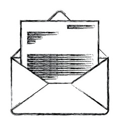 monochrome blurred silhouette of envelope mail vector image vector image