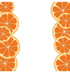 Orange slices frame accommodated on each other vector