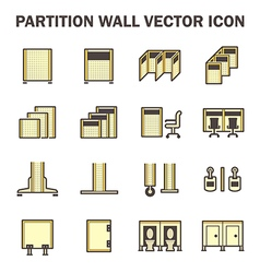Partition wall icon vector