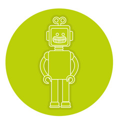 Robot toy isolated icon vector