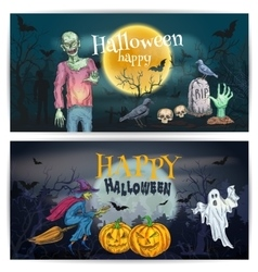Scary comic design for happy halloween holidays vector