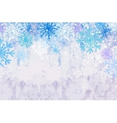 Winter snowstorm horizontal background vector