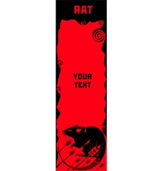 Rat a symbol of chinese horoscope vector