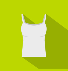 White woman tank top icon flat style vector