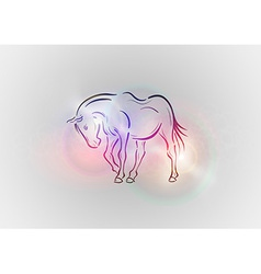 Background abstract with horse vector