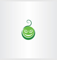 Funny green face logo icon element vector