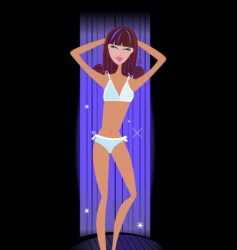 girl in solarium vector image