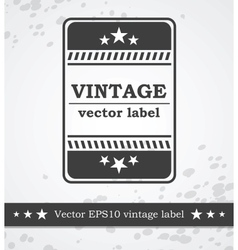 Black label with retro vintage styled design vector