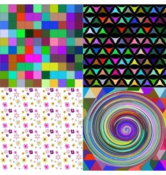 Set of texture many small brightly colored figures vector