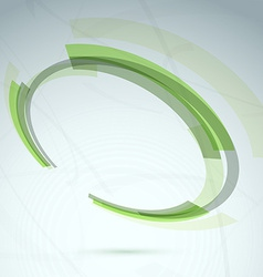 Green abstract spinning wheel element background vector