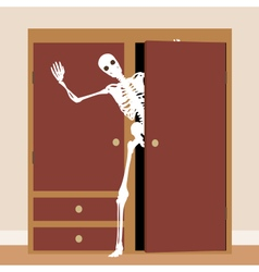 Skeleton in the closet vector image