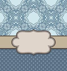Decorative old style vintage frame design vector