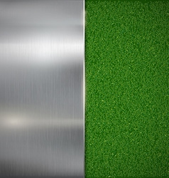 Metal plate on the lawn vector