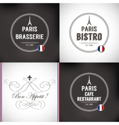 Set of Paris Badges vector image