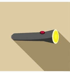 Black flashlight icon in flat style vector