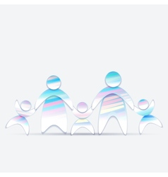 Abstract Friendly family 2 vector image vector image