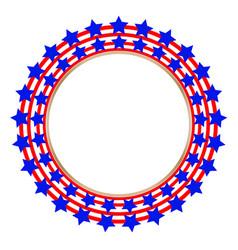 American flag stylized symbol logoemblem vector