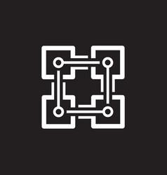 Blockchain icon technology vector